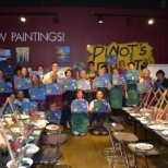 At our Paint for a Promise event for National cancer Survivor's Day