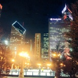 #MyCrainView on a wintery night of the Chicago offices