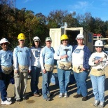 "Teradata ladies participated in ""2013 Women Build (Apex)"" Event sponsored by Habitat for Humanity."