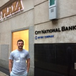 City National Bank photo: On a road trip, LA-based Nicholas Schmid of our Talent Acquisition team.