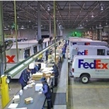 FedEx photo: This is what sorting packages look like