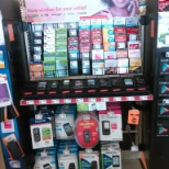 Convergence Marketing / C-Cor photo: Just a photo of a prepaid section in family dollar