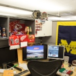 STATS photo: There's no shortage of sports memarabilia in our office