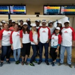 Our Mississauga team getting ready to smash the bowling pins!