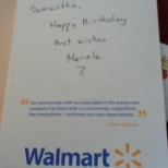 Management took the time to send me a hand written birthday card. It was so sweet!