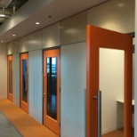 NICE inContact photo: Need some personal space? We've got almost 40 different phone booths throughout our HQ office.
