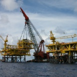 Installation of PTTEP - Arthit Wellhead Platform By McDermott Offshore, Batam Island of Indonesia.