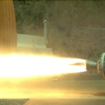 Sierra Nevada Corporation photo: SNC's Space Systems testing of its hybrid rocket motor, used on the Dream Chaser® and SpaceShipTwo.