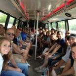 We had a great quarter, so we rented a bus to eat BBQ and go wine tasting!