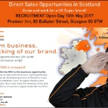 Direct Sales Recruitment Open Day - Glasgow, 10th May 2017 at the Premier Inn, G5 0TW