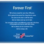 First Citizens Bank photo: Forever First
