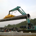 A&A Trenching photo: pipe yard