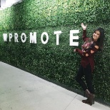 Wpromote photo: Ta-da! Our new green logo wall!