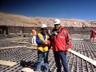 Escondida Copper Mine, 1st pour of 2500 yards, foundation for Ball Mill #5, for Bechtel Global.