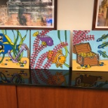 Happy to send back our paintings to Hospital Art so they can brighten a patient room.  #givingback