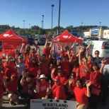 Westland employees rode the Big Bike in support of the Heart & Stroke Foundation.