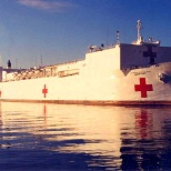 USNS T-AH 20   US Navy Hospital Ship.