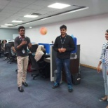 Our Fun Friday activity at our Bangalore office was all about being quick. Participants had to pass