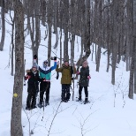 Snowshoeing at Osler Bluff