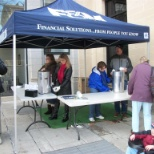 Providing free hot chocolate to those who joined in on the festivities of IceFest