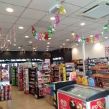 Raya decoration in 7eleven shop