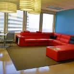 Lounge area for Velocify employees