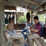 Home visit to program beneficiaries as part of monitoring