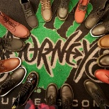 Journeys photo: Setting up Fall 2016 Dr. Marten Display