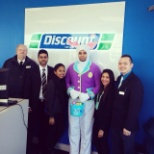The Easter bunny stopping by our locations!