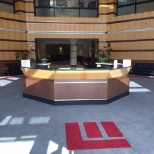 Lobby at corporate headquarters