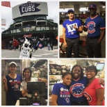 Cubs victory parade day @ Chick-Fil-A State and Lake!