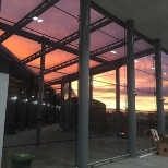 Balfour Beatty photo: The sun sets on completed job,PFP/Balfour Beatty at Edinburgh's new Gateway Rail /Tram Interchange