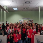 Everyone in red this Valentine's! Shout out to our folks from TeleTech Rockledge!