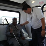 SCR MEDICAL TRANSPORTATION photo: Assisting a visually impaired passenger.