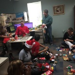 Tallahassee employees celebrating the holidays
