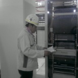City of Houston, TX photo: checking properly  the installation of panel and all component  in material