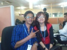 with my fren in office