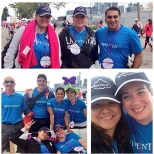 Employees walking in a 25k to beat cancer