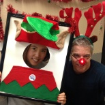 Ledcor photo: Our Ledcor Elves are having fun! Sharing the holiday spirit at our head office in Vancouver!