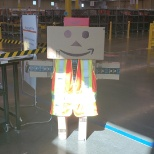 Some of the morning shift employees took some boxes and created the location mascot: Danbo!