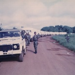 Leading a UN Logistics Convoy from Freetown to Koidu 2002