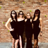 Our talent ladies heading to the Masked Ball. We can't recognise them with their masks but we think