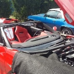 JN Phillips Auto Glass photo: Our Tech replaces a windshield in a Corvette!