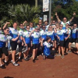 ADT employees after participating in the Dolphins Cycling Challenge.