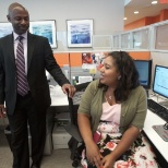 Ramcess and Brittany, part of the Diversity & Inclusion team at Comcast HQ
