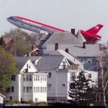 NWA (Northwest Airlines) DC-10 rotating up and out of MSP (Minneapolis/St. Paul)