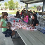 Cardon Outreach photo: Blankets were made to give to children being treated at Primary Children's Hospital.