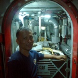 Maingate Personnel Services photo: Inside engine room, repair of side shell.