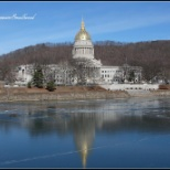 State of West Virginia photo: Winter photo of West Virginia State Capitol Complex