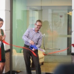 Personify photo: CEO Eric Thurston celebrates the opening of our brand new office in Herndon, VA in July 2016.